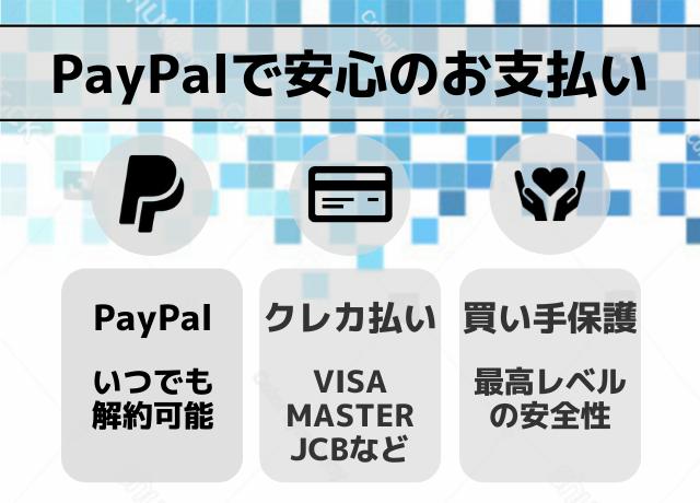 PayPalで安心のお支払い